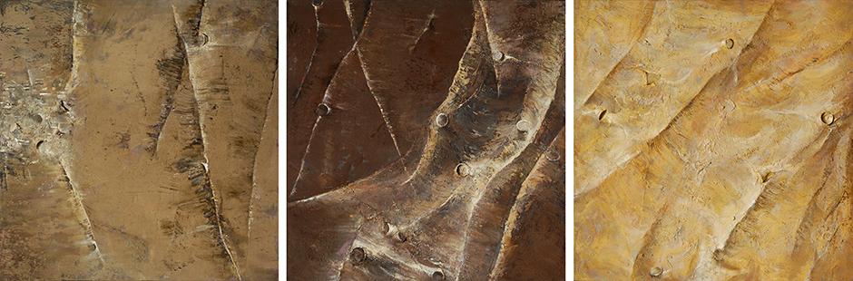 Downstream Triptych  1997-9, 153 x 460 cm