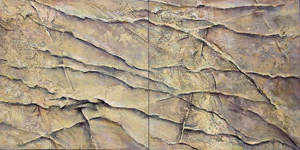Rippled Shallows  1998-2009, 107 x 214 cm