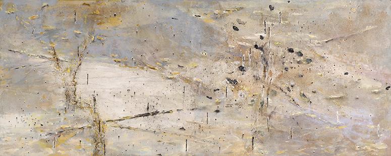Riverside Water's Edge  2001-10, 122 x 305 cm