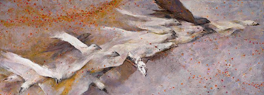 Sudden Flight  2010-11, 122 x 305 cm
