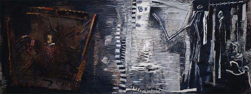 Reflections II  1984-6, 172 x 457 cm