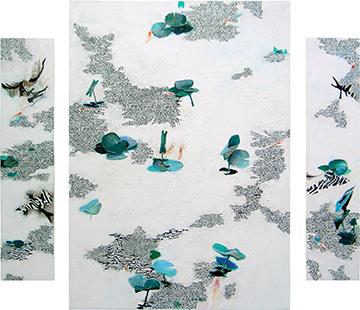 Pond VII Triptych  2004-5, 212 x 250 cm