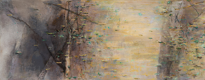 Coppice Early Spring Light  2000-06, 120 x 305 cm