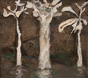 Three Trees  1992-2016, 56 x 61 cm