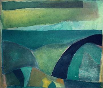 Green Landscape  1972, 183 x 213 cm (Chantrey Bequest)