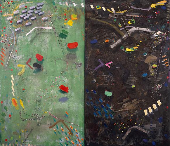 Garden Diptych  1982, 215 x 244 cm