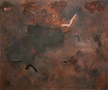 Night Garden I  1978-9, 153 x 178 cm