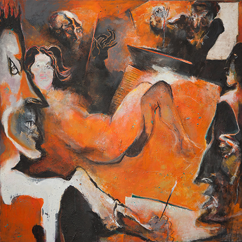 Lifeclass - Susanna Posing For The Elders  2008-14, 180 x 186 cm