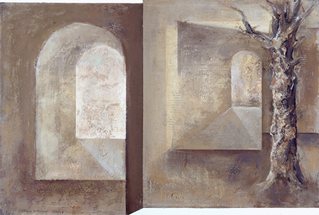 Tree And Arches  1996-7, 61 x 101 cm