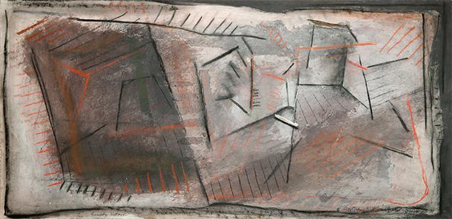 Empty Interior  1984-5, 51 x 102 cm