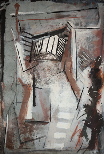 Cactus Looking Out Of Window  1988-9, 137 x 101 cm
