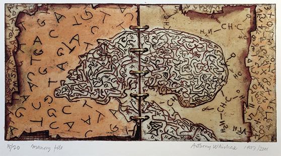 Memory File  1997/2001, 15 x 29 cm, hand tinted digital print
