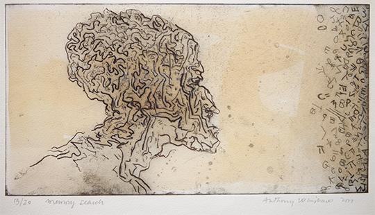 Memory Search  2001, 18 x 34 cm, hand tinted digital print