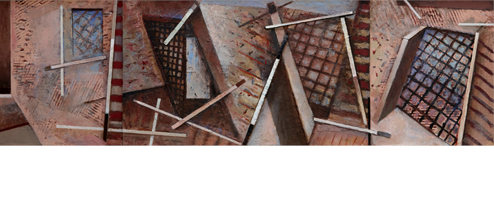 MATERDERO MUNICIPAL TRIPTYCH 152 x 416 cms 1983-1993