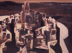 Arcos De La Frontera II  1962, 92 x 122 cm, oil on board