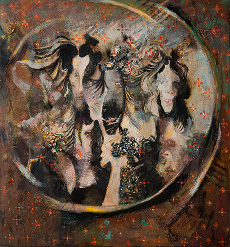 Mirrored Vanity  1999-2019, 137 x 127 cm
