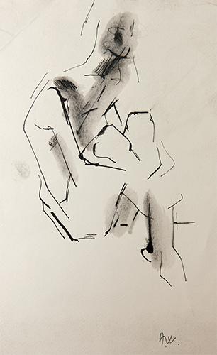 Cross Legged  1971, 28 x 20.5 cm