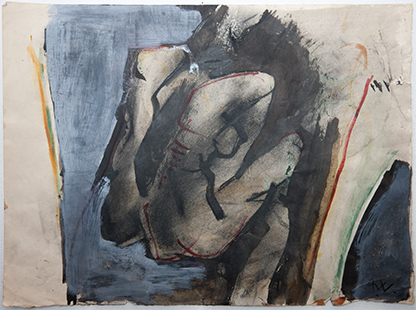 Seated Figure with Crossed Legs  1974, 28 x 38 cm