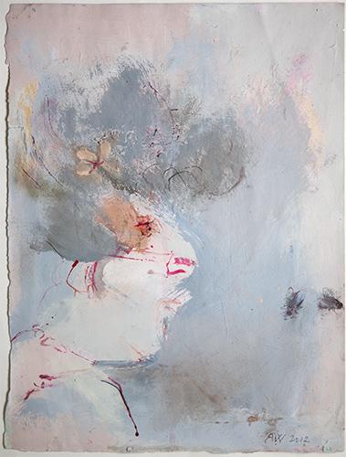 Woman Surprised By Flies  2012, 38 x 29 cm