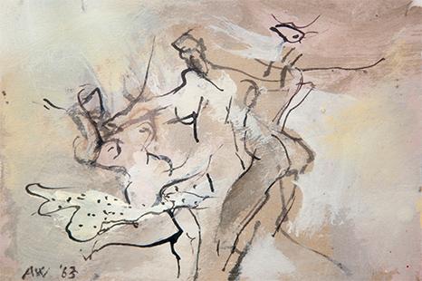 Dance  1963, 12.5 x 18 cm