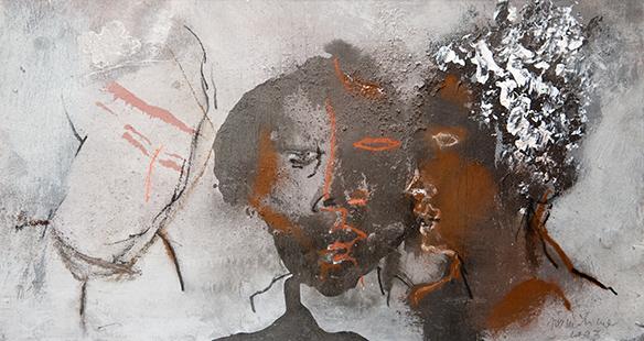 Three Heads  1993, 23.5 x 42 cm