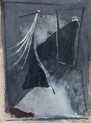 Woman And Mirror  1984-5, 69 x 50 cm