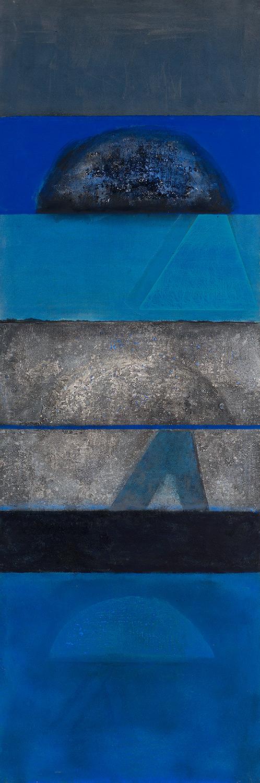 Still Night Sea With Gibraltar In Mind  1975-2011, 229 x 75 cm
