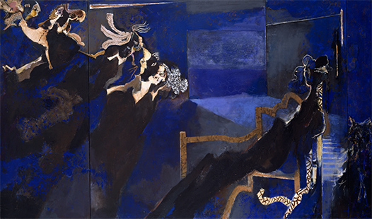 Reverie III Triptych  1988-1990, 168 x 306 cm