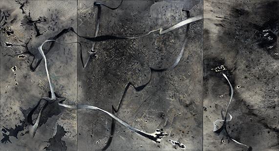 Axons I  2002, 169 x 307 cm