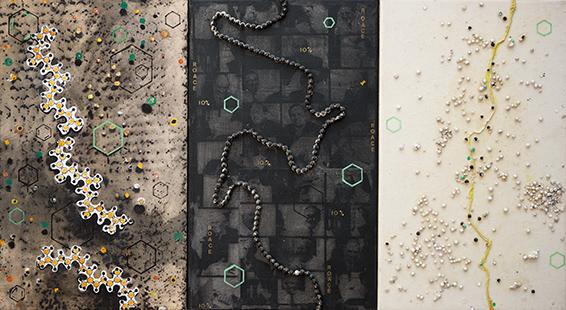 Polymer Chain IV  2000, 50 x 91 cm