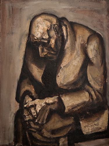 Old Man Resting  1959, 122 x 92 cm, oil on board