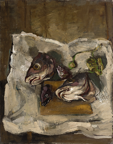 Fish Heads  1953, 91.5 x 71 cm, oil on canvas