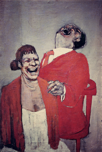 Laughing Couple  1956, 107 x 152.5 cm, oil on board