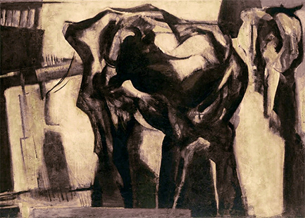 Two Cows  1961, 152 x 213 cm, oil on canvas (Arts Council)