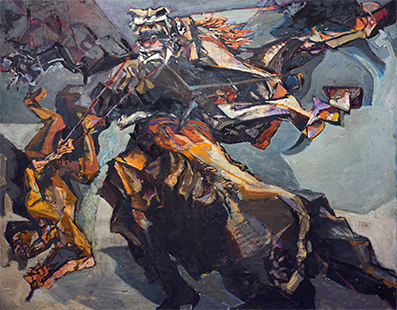 Bullfight With Falling Picador  1951-2, 102 x 129 cm, oil on canvas