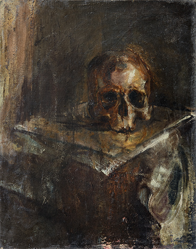 Skull  1953, 51 x 41 cm, oil on canvas