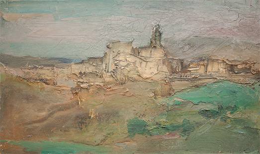 Zahara  1963, 26.5 x 44.5 cm, oil on board
