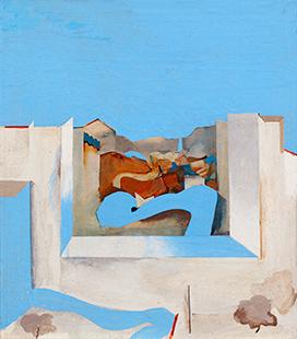 Blue Road Northwards I Variations  1969, 30 x 26 cm, oil on board