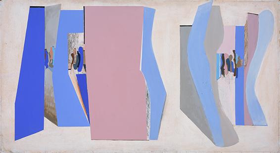 White Interior Opened  1968, 92 x 168 cm, oil on board