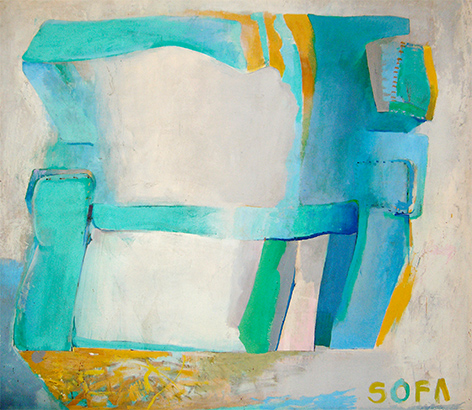 Sofa  1967, 168 x 214 cm, oil on board