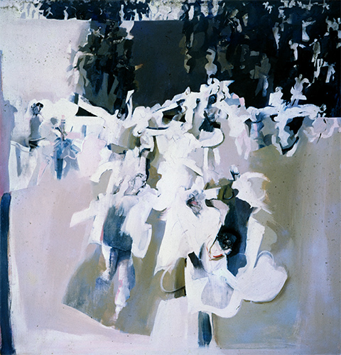 Dancers IV 1963-4, 193 x 183 cm, oil on board (Bank of Boston, USA)