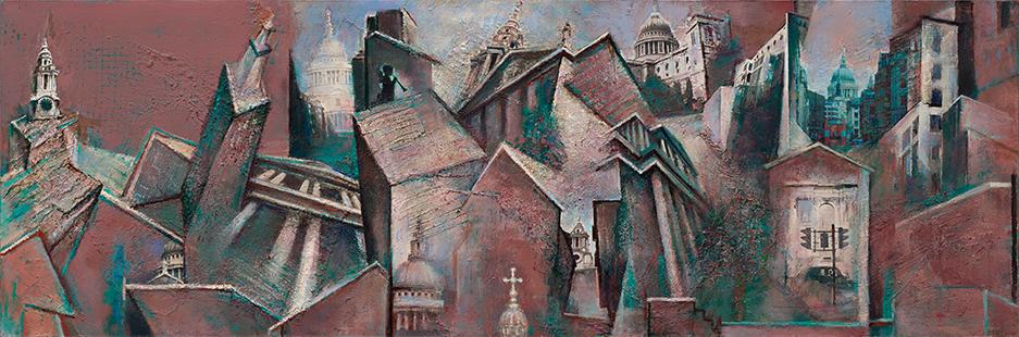 St Paul's Multiview II  2009-10, 83 x 220 cm