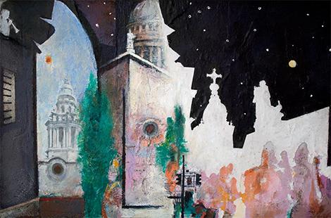 St Paul's Day/Night  2009-10, 30 x 45.5 cm