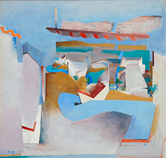 Blue Road Northwards II  1967, 153 x 161 cm