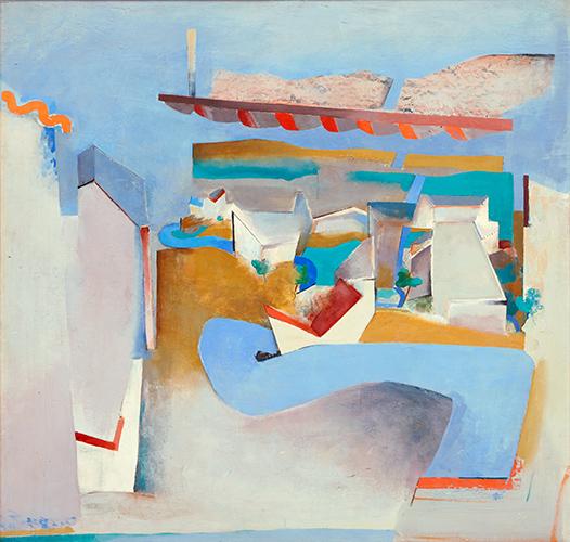 Blue Road Northwards II  1967, 153 x 161 cm, oil on board