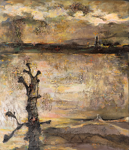 Evening Landscape With Tree  1991-2012, 178 x 151 cm