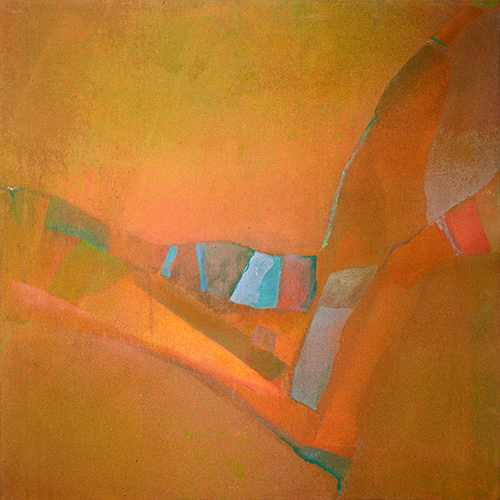 Sundown Valley  1973, 76 x 76 cm
