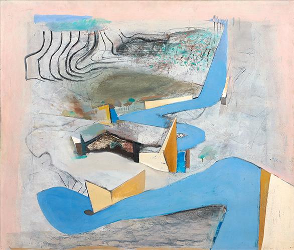 Blue Road Northwards III  1967, 132 x 153 cm, oil on board