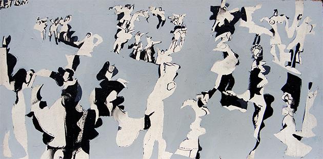 Grey Dance  1963-4 31 x 61 cm