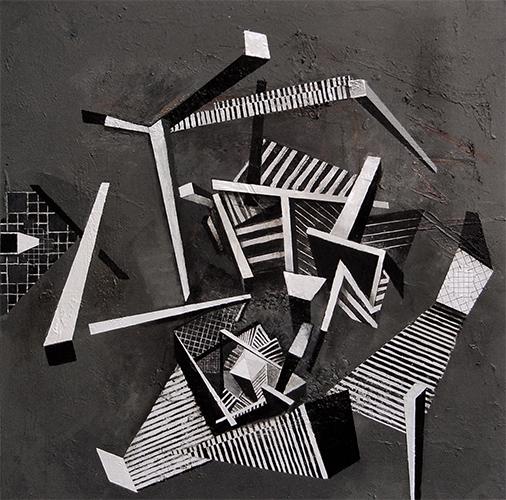 Vertigo II  2007-9, 106 x 107 cm